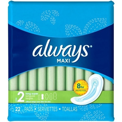 Picture of Always Maxi Size 2 Long Super without Wings Pads