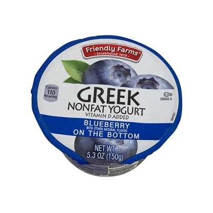 Picture of Friendly Farms Blueberry Nonfat Greek Yogurt