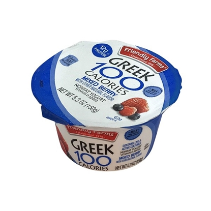 Picture of Friendly Farms 100 Calorie Mixed Berry Greek Yogurt