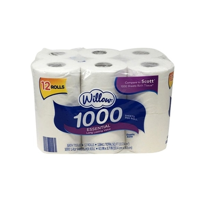 Picture of Willow 1000 Sheet Bath Tissue